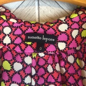 Nanette Lepore Tops - Nanette Lepore Silk Ruffled Tank Top Size 0